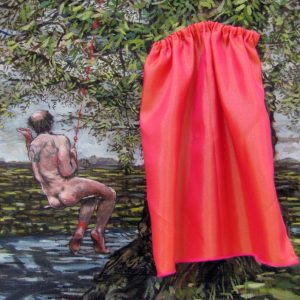 His Unrobed Pastoral with Red Slippers Oil on canvas 2013 26cm x 20cm