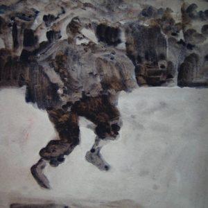 Dance Crow Dance 2005, Watercolour paint on paper, A5