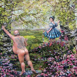 Dave Expects Very Soon 2013 Oil on canvas 34cm x 44cm