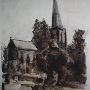Pagans in the Parish, 2005, Watercolour on paper, A4