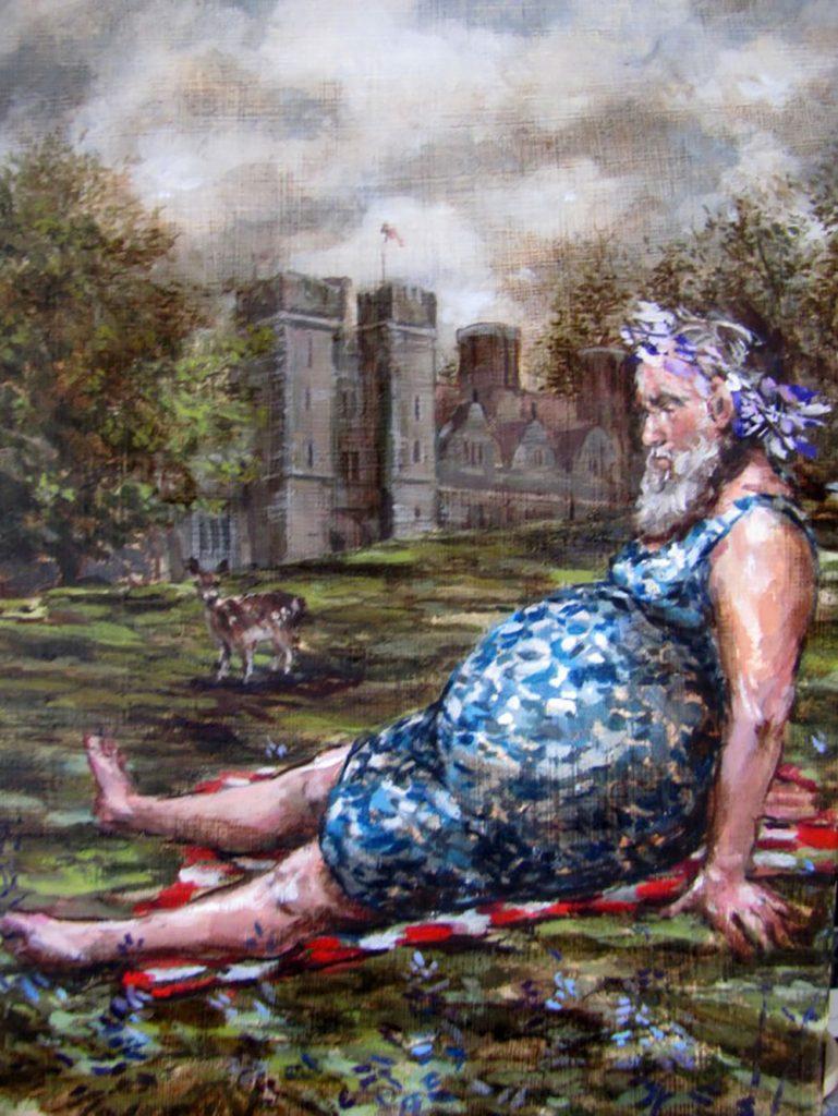 Rubens  sur l'Herbe 2013 Oil on canvas 26cm x 20cm