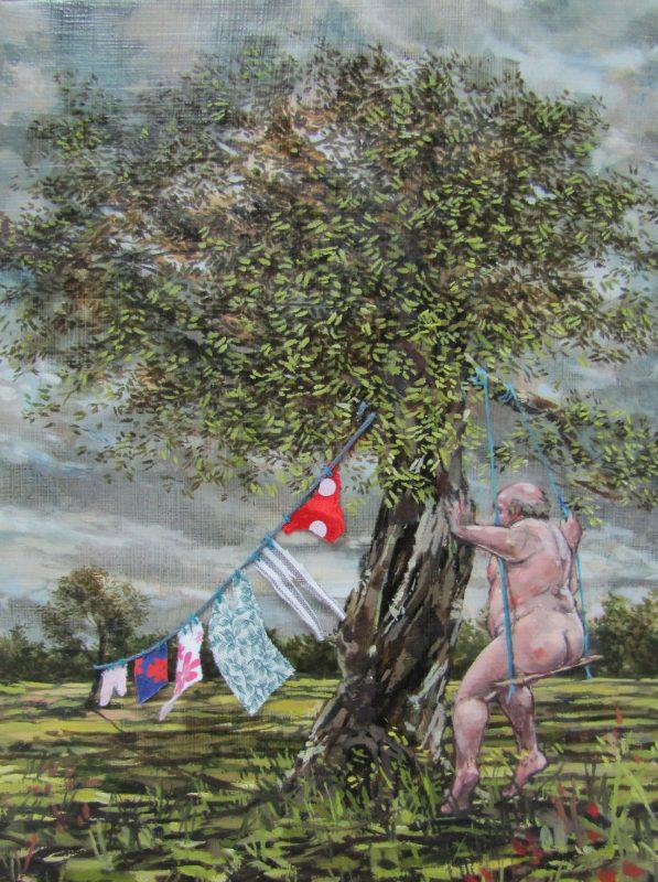 His Haberdashery Pastoral 2012 oil on canvas 18cm x 24cm