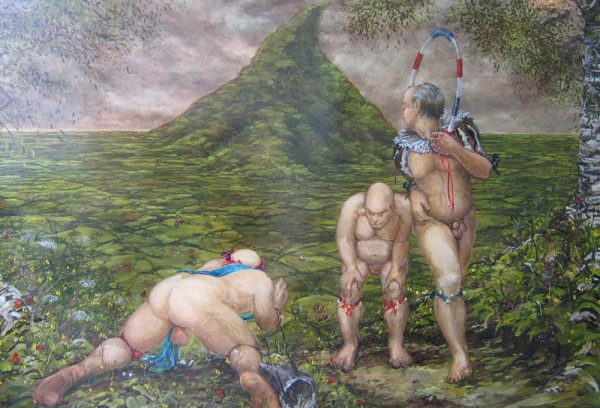 It's All About the Fun of The Chase, Bob 2006 oil on canvas 191cm x 276cm