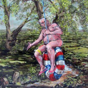 It's Apollo, in Flatford 2013 Oil on Canvas 24cm x18cm