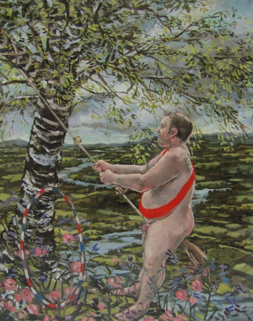 Tarzan and the Ox Bow 2012 oil on canvas 18cm x 24cm