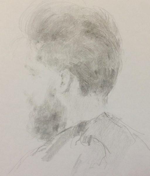 Barberium Anon 1, 2017, Pencil on paper, 29 x 21 cm