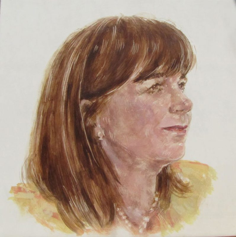 Elish Angiolini, Herstory Portrait, 2011, Egg tempera on gesso on beech panel 20cm x 20cm