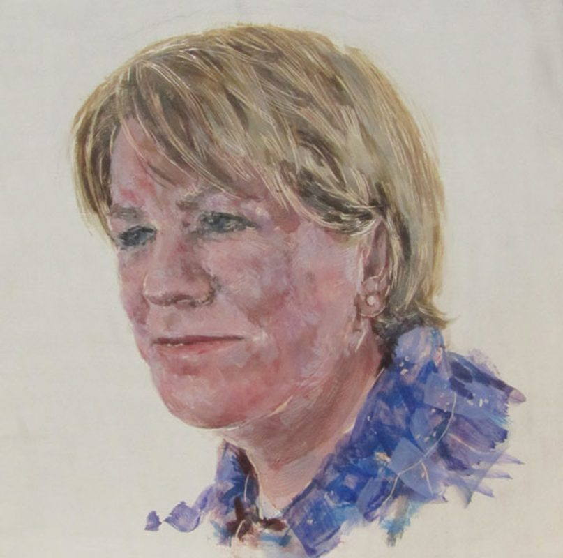 Johann Lamont, Herstory Portrait, 2011, Egg tempera on gesso on beech panel, 20cm x 20cm