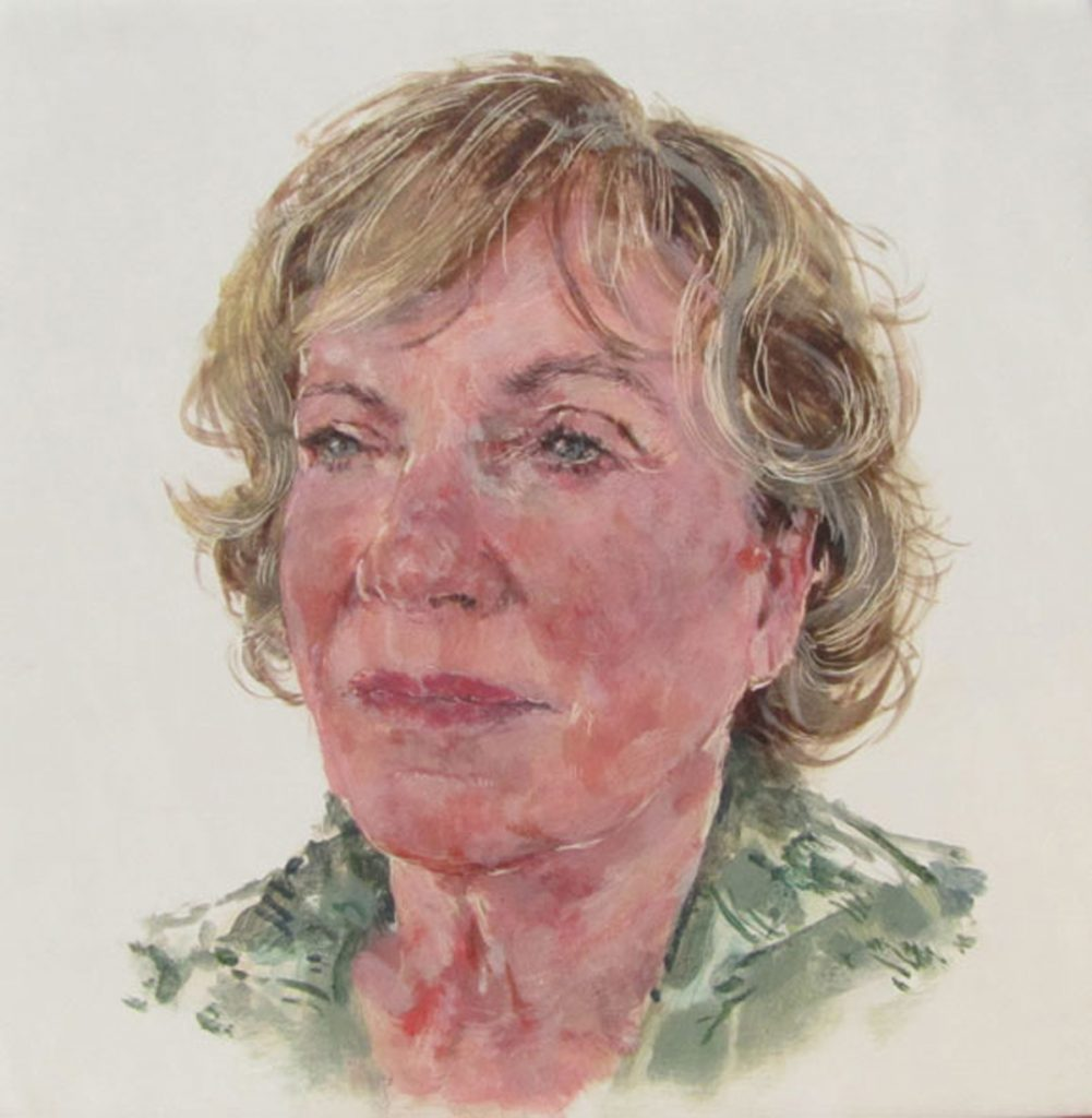 Kathy Chambers, Herstory Portrait, 2011, Egg tempera on gesso on beech panel 20cm x 20cm