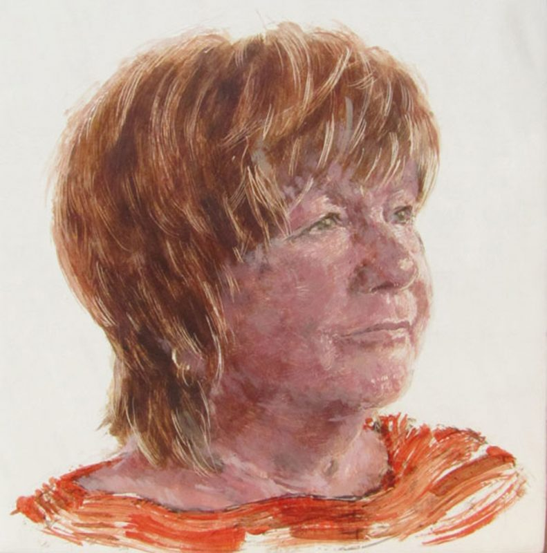 Seona Reid, Herstory Portraitt, 2011, Egg tempera on gesso on beech panel 20cm x 20cm