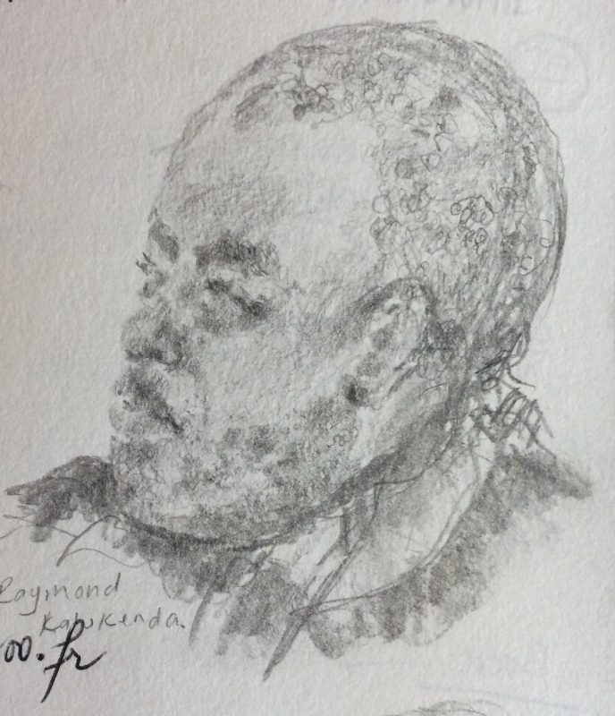 Raymond Kalukenda 2018 pencil on paper 29 x 21cm