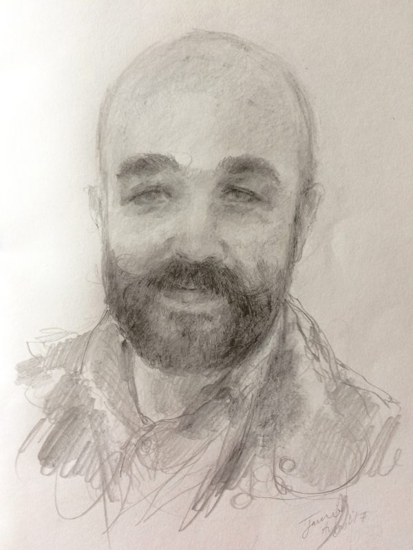 Jamie Caldwell 2017 pencil on paper 29 x 21cm