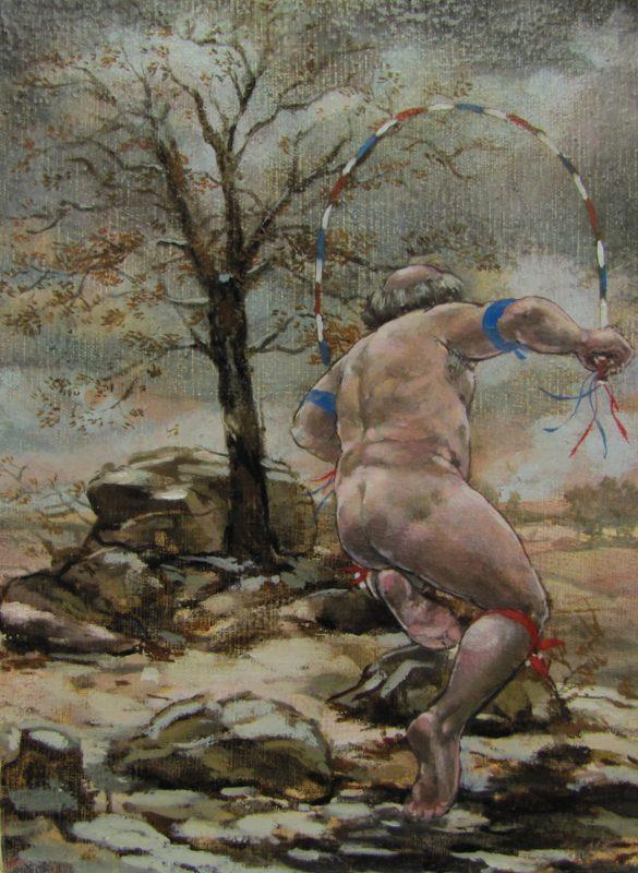 Dancer Davis 2012 Oil on canvas 18cm x 24cm
