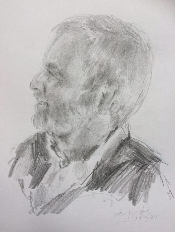 Arthur Johnstone 2018 pencil on paper 29 x 21cm