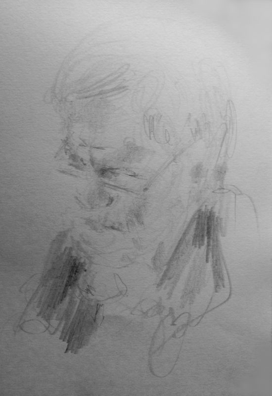 Jeremy Corbyn 2018 pencil on paper 29 x 21cm