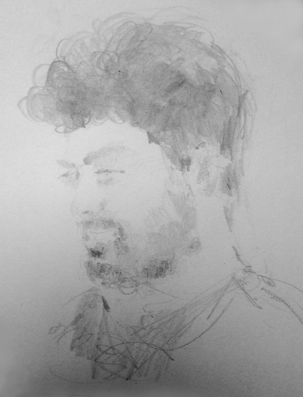 Chris Stewart 2017 pencil on paper 29 x 21cm