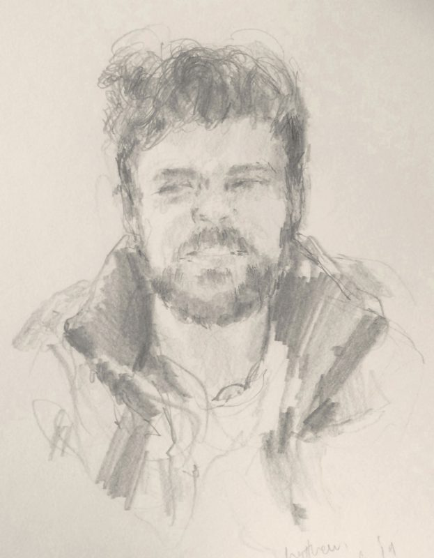 Matthew McLaughlin 2019 pencil on paper 29 x 21cm