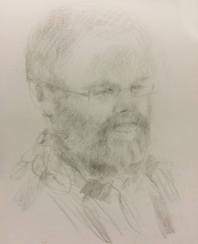 Simon Shaw 2018 pencil on paper 29 x 21cm