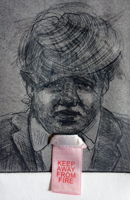 Errr Keep Away from Fire, 2020, Etching, 18 x 12 cm