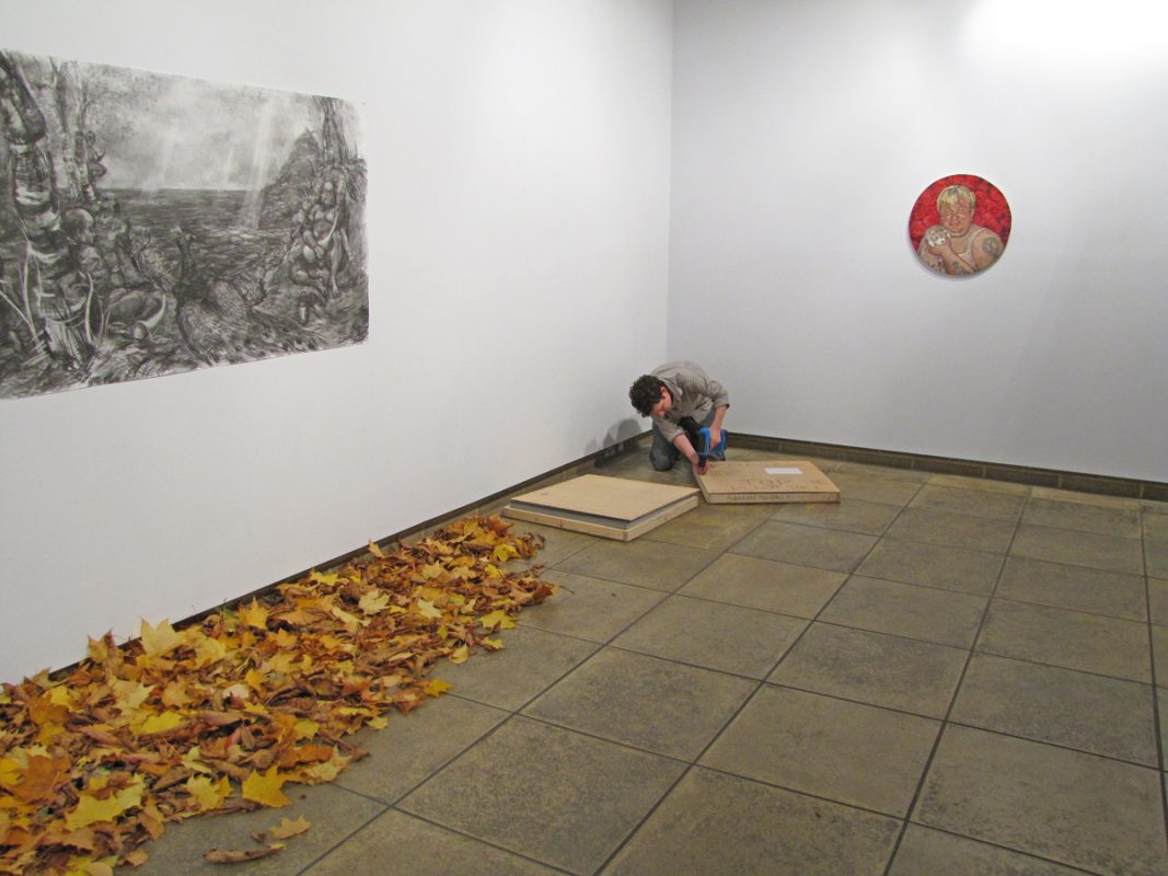 Installation of Apotropaic for show Tales of Shiney - Shiney, Northwall Arts Centre, Oxford, November 2009