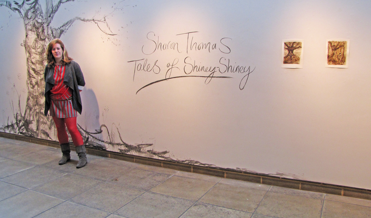 Opening of Tales of Shiney - Shiney, 2009, Northwall Arts Centre, Oxford, November 2009