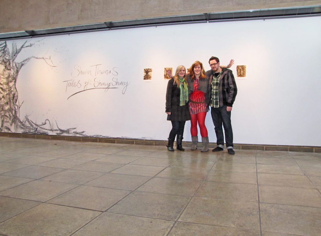 Opening of Tales of Shiney - Shiney with Phil and Emma, 2009, Northwall Arts Centre, Oxford, November 2009