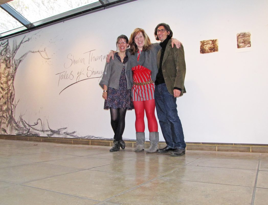 Opening of Tales of Shiney - Shiney with Sarah and Francesco, 2009, Northwall Arts Centre, Oxford, November 2009