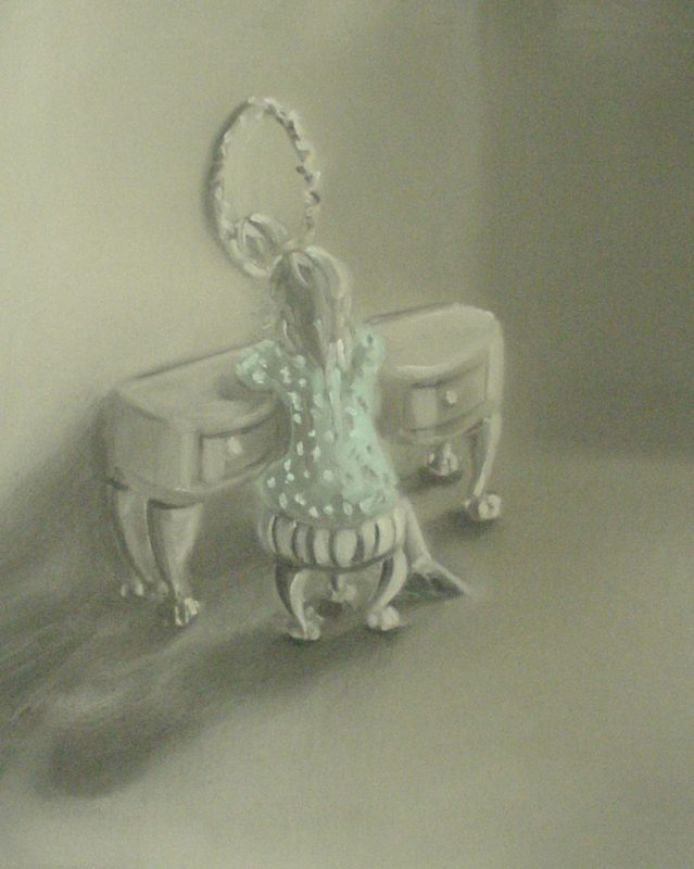 At her Toilette, 2002, Oil on board, 40 x 30 cm