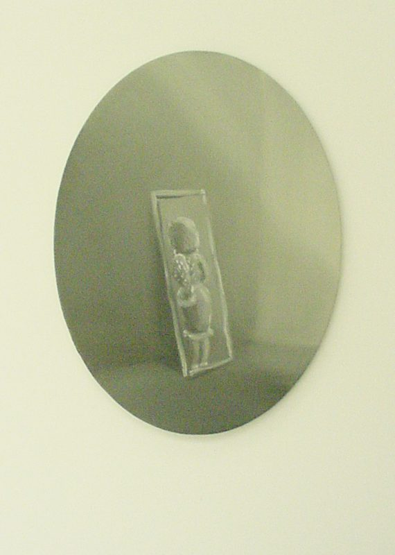 Mirror Mirror, 2001, Oil on canvas, 16 x 12 cm oval