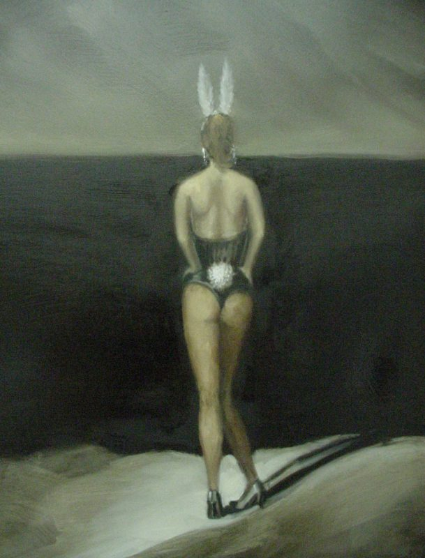 Good Bunny, 2002, Oil on board, 100 x 60 cm