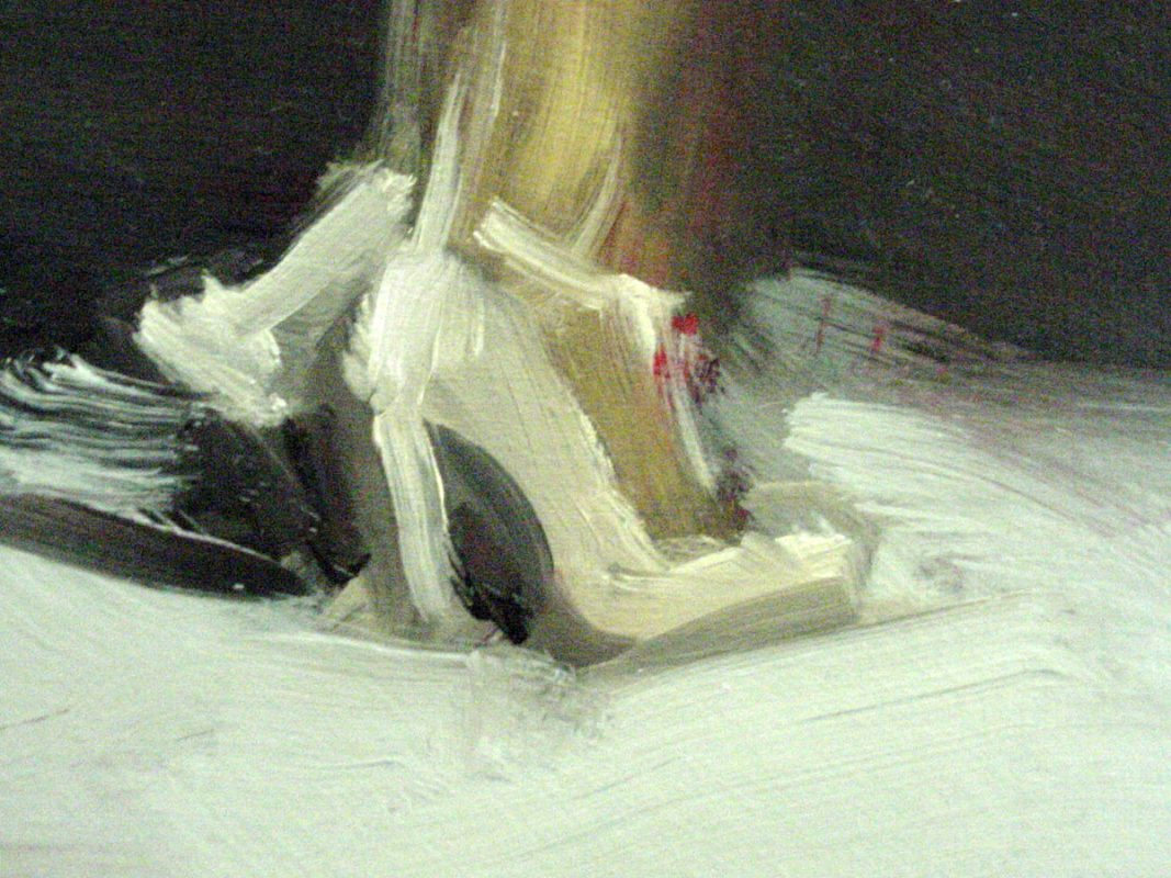 Heels, 2001 , Oil on board, 20 x 26 cm
