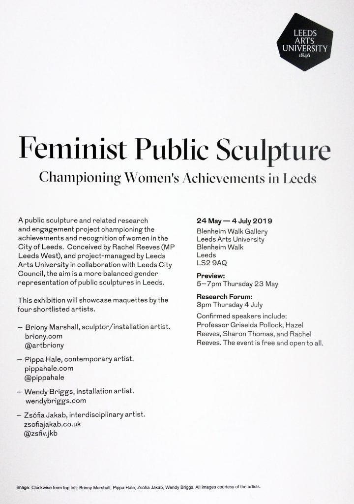 Feminist Public Sculpture, Leeds Arts University, 2019