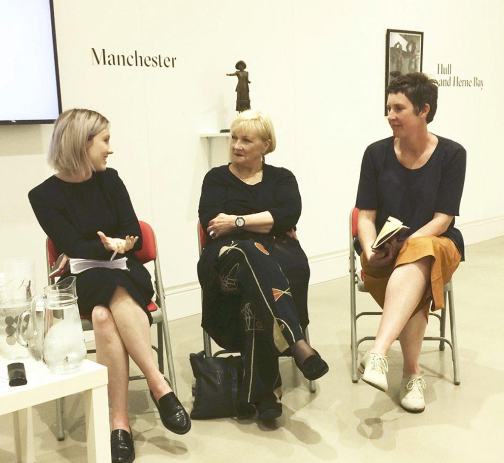 Catriona, Griselda and Pippa Griselda Pollock, Feminist Public Sculpture Symposium, LAU, 2019