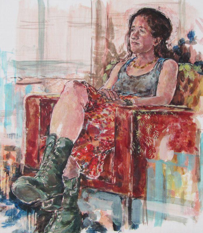 Deanna Maganias study, 2010, 30 x 24 cm