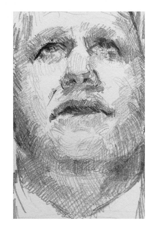 Errr, 2019, Pencil on paper, 10 x 12 cm