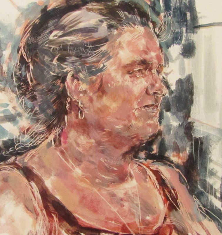 Frances Robertson study, 2010, Egg tempera on gesso panel, 24 x 24 cm
