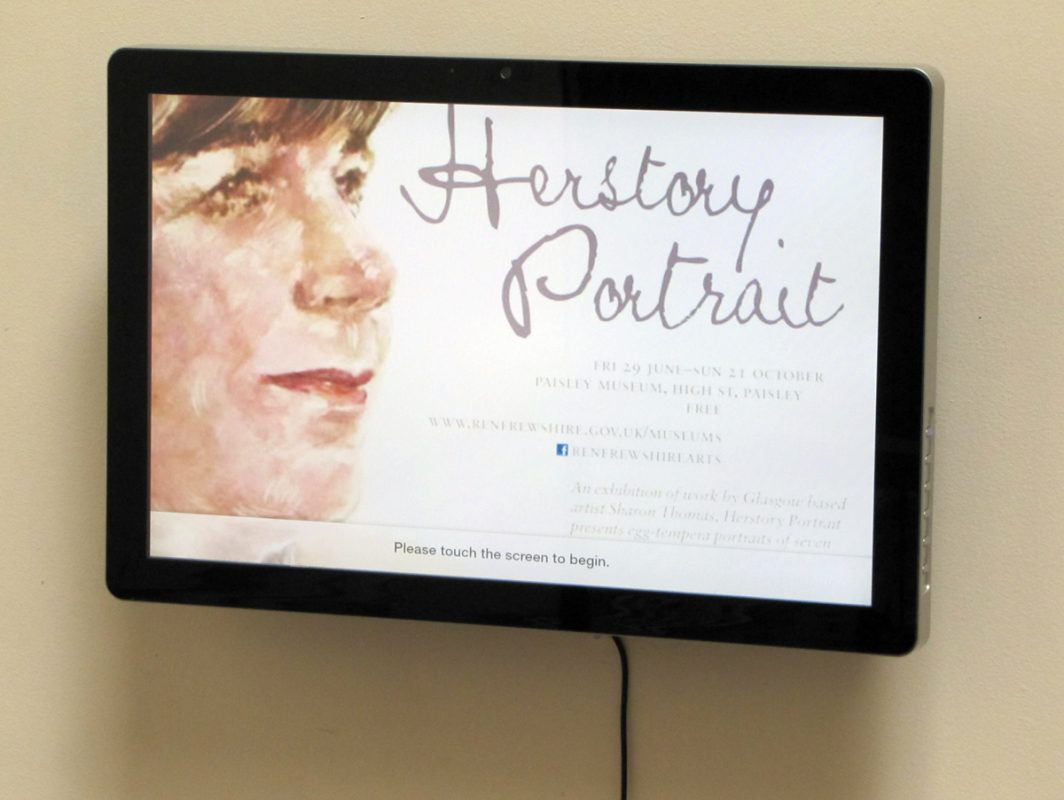 Herstory Portrait, Paisley Museum, 2012