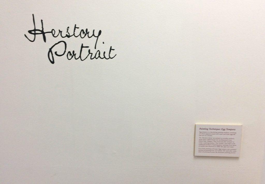 Herstory Portrait at Leeds Arts University, 2019