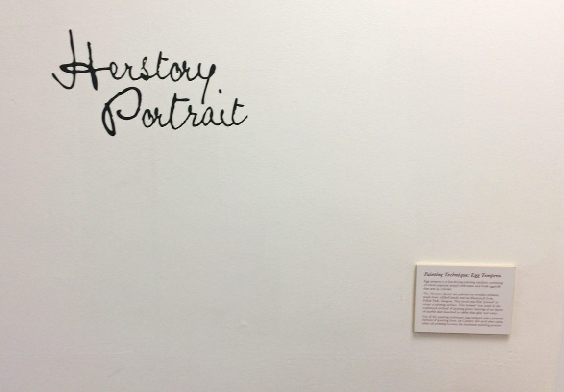 Herstory Portrait at Leeds Arts University, 2019