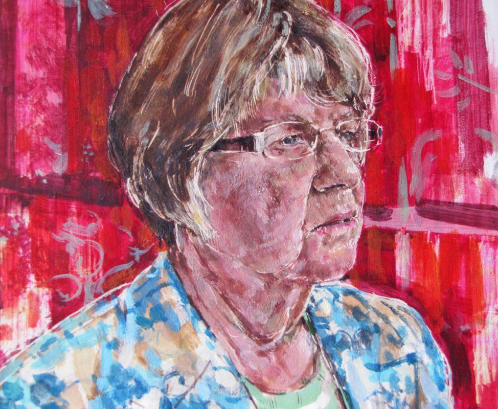 Jean Mcfadden study, 2010, Egg tempera on gesso panel, 30 x 20 cm