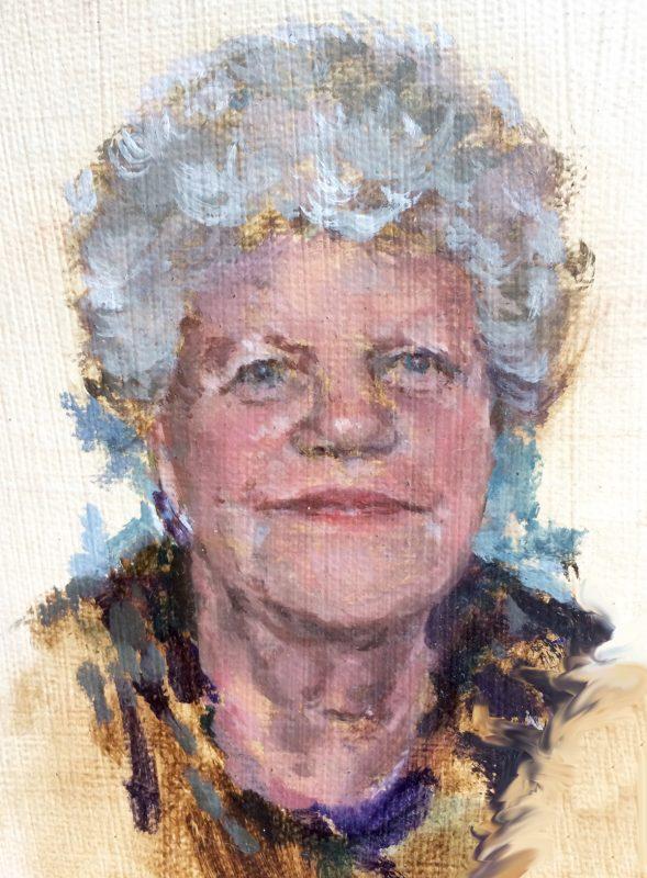Ruth Wishart study, 2010, Oil on canvas, 14 x 12 cm