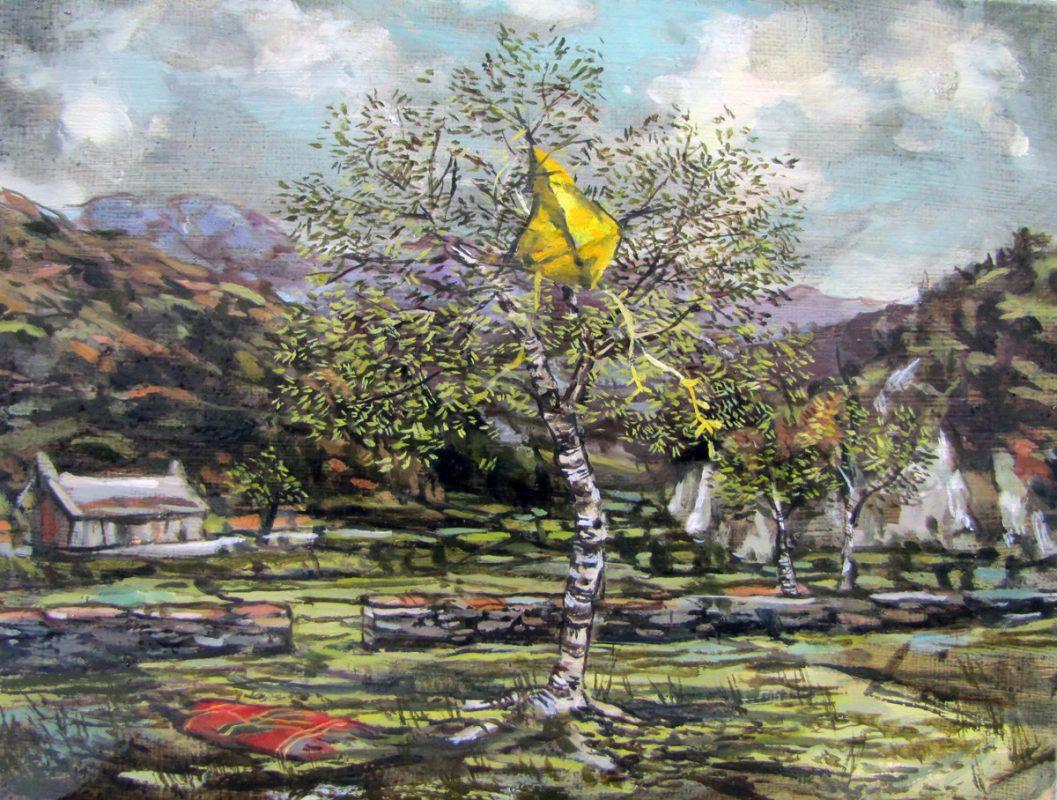 Yellow Kite 2013 Oil on canvas 20 x 26 cm