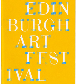 Edinburgh Art Festival brochure 2013
