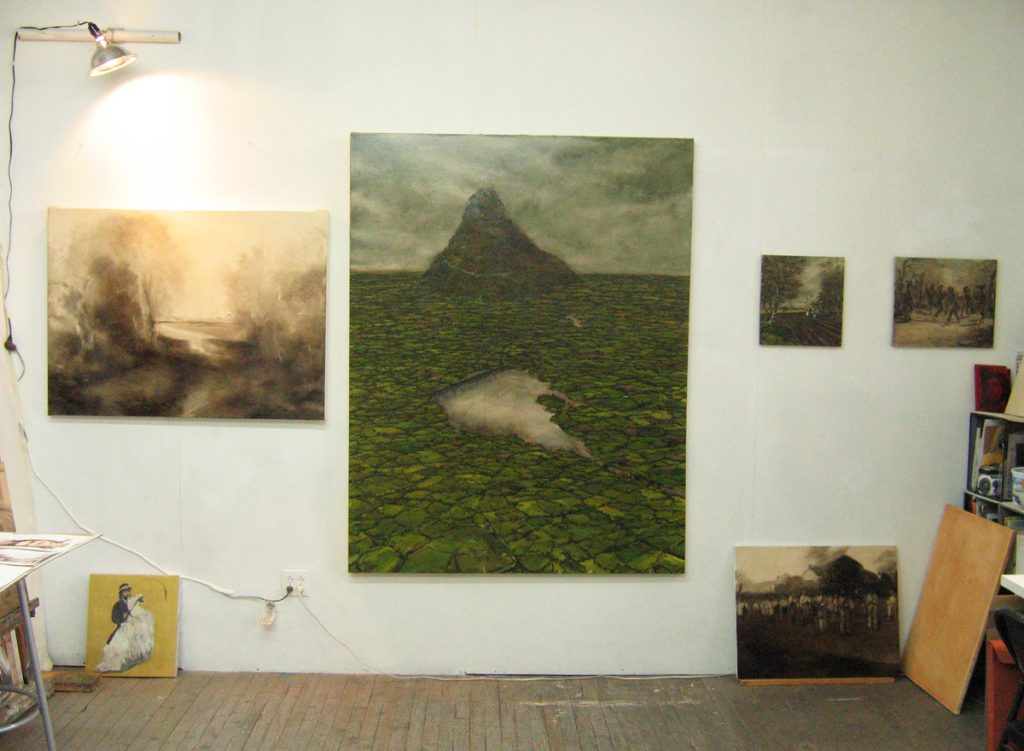 Sharon Thomas Studio work Crane St, Open Studio, NYC, 2005