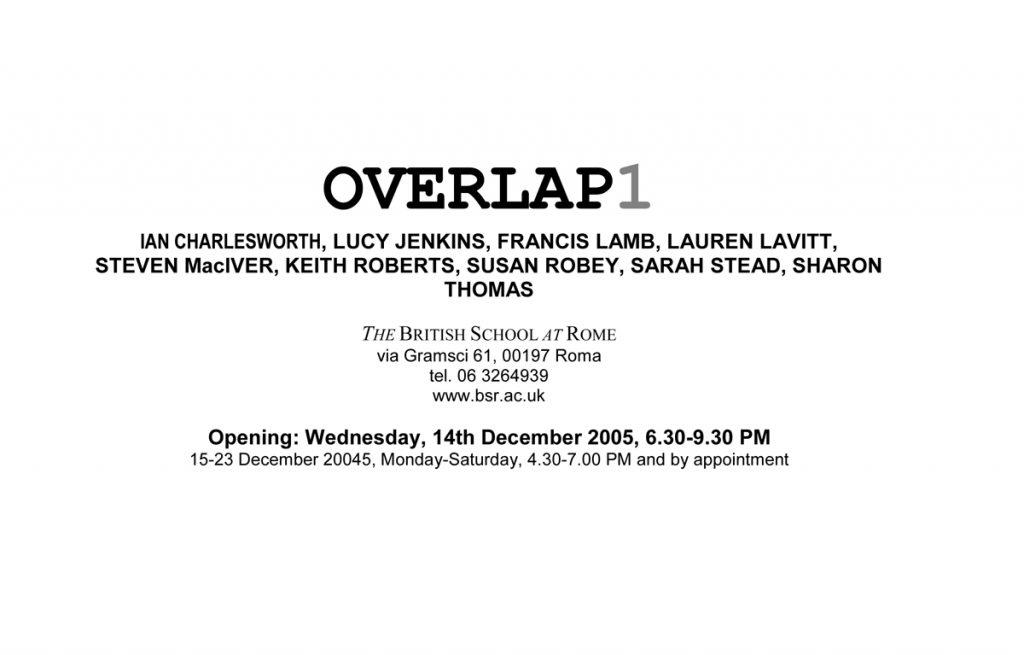 Overlap 1 2006 BSR flier